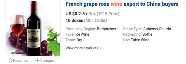 Francouzské hrozny rosé z regionu Barbarescu