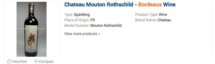 Chateau Mouton Rothschild - Bordeaux Wine - šumivé