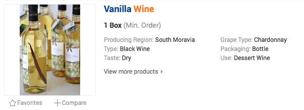 Vanilkové víno z Moravy
