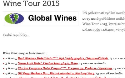 Putovní červnová Wine Tour nabídne ochutnávku vín z celého světa hned v 6 krajských městech