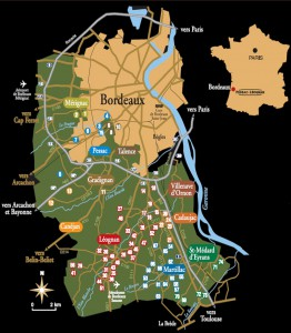 Mapa Pessac Leognan