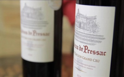 V hlavní roli víno – Chateau de Pressac – Saint-Emilion Grand Cru 2008 a 2010