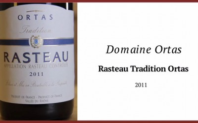 V hlavní roli víno – Domaine Ortas – Rasteau Tradition Ortas